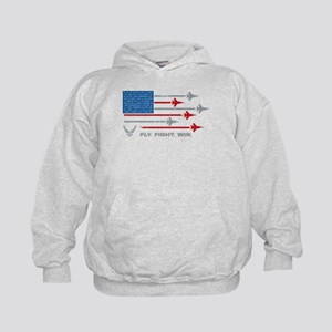 USAF Fly Fight Win Kids Hoodie