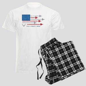 USAF Fly Fight Win Men's Light Pajamas