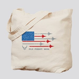 USAF Fly Fight Win Tote Bag