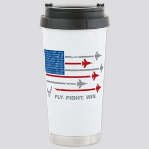USAF Fly Fight Wi 16 oz Stainless Steel Travel Mug
