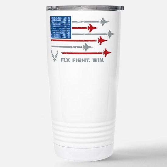 USAF Fly Fight Wi Travel Mug