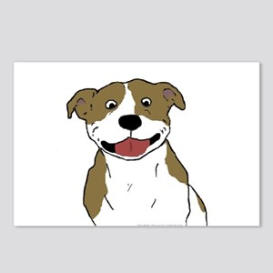 Smiling Pit Bull Tan Postcards (Package of 8)