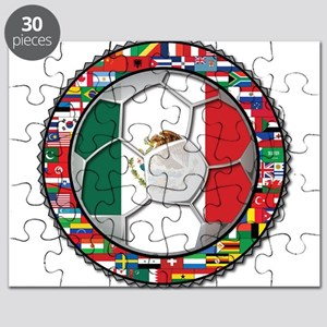 Mexico Flag World Cup No Labe Puzzle