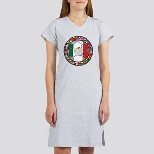 Mexico Flag World Cup No Labe Women's Nightshirt
