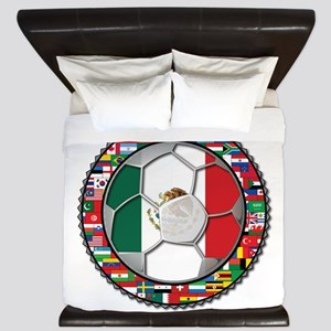 Mexico Flag World Cup No Labe King Duvet