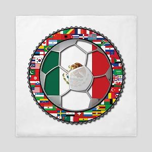 Mexico Flag World Cup No Labe Queen Duvet