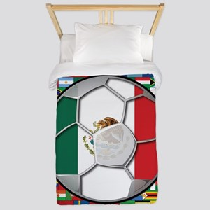 Mexico Flag World Cup No Labe Twin Duvet