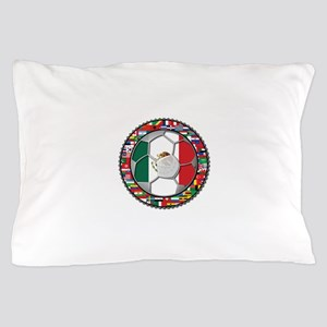Mexico Flag World Cup No Labe Pillow Case