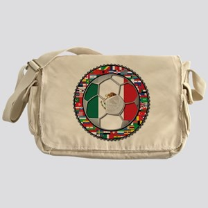 Mexico Flag World Cup No Labe Messenger Bag