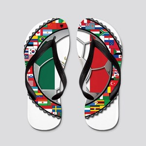 Mexico Flag World Cup No Labe Flip Flops