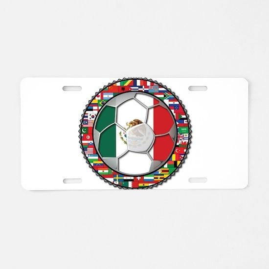Mexico Flag World Cup No Labe Aluminum License Pla