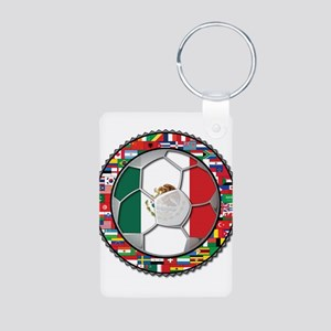 Mexico Flag World Cup No Labe Aluminum Photo Keych