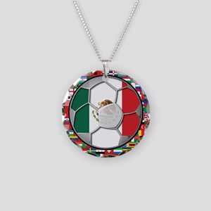 Mexico Flag World Cup No Labe Necklace Circle Char