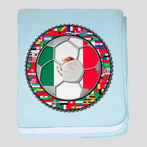 Mexico Flag World Cup No Labe baby blanket