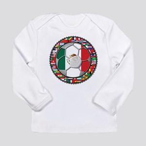 Mexico Flag World Cup No Labe Long Sleeve Infant T