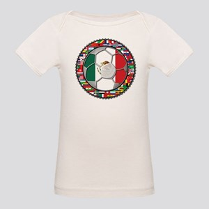 Mexico Flag World Cup No Labe Organic Baby T-Shirt