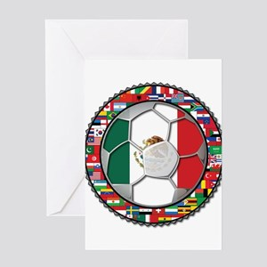 Mexico Flag World Cup No Labe Greeting Card