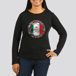 Mexico Flag World Cup No Labe Women's Long Sleeve