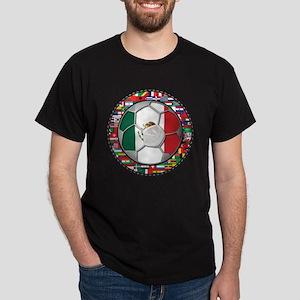 Mexico Flag World Cup No Labe Dark T-Shirt