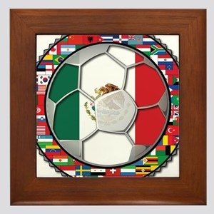 Mexico Flag World Cup No Labe Framed Tile