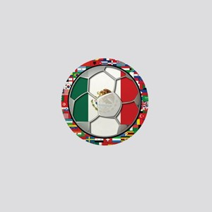 Mexico Flag World Cup No Labe Mini Button