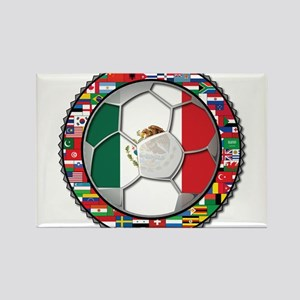 Mexico Flag World Cup No Labe Rectangle Magnet