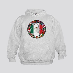 Mexico Flag World Cup No Labe Kids Hoodie
