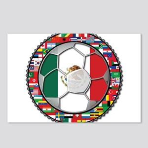 Mexico Flag World Cup No Labe Postcards (Package o