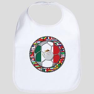 Mexico Flag World Cup No Labe Bib