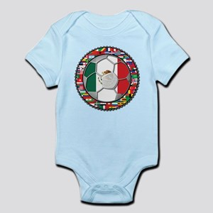 Mexico Flag World Cup No Labe Infant Bodysuit