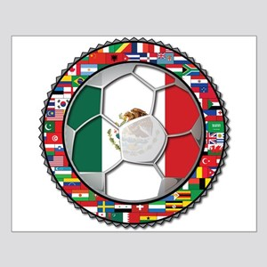 Mexico Flag World Cup No Labe Small Poster
