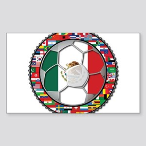 Mexico Flag World Cup No Labe Sticker (Rectangle)