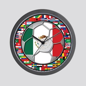 Mexico Flag World Cup No Labe Wall Clock