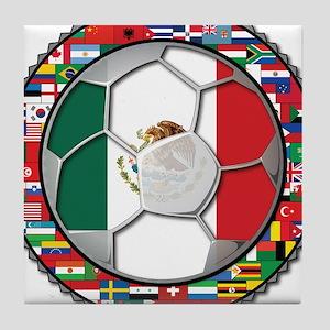 Mexico Flag World Cup No Labe Tile Coaster