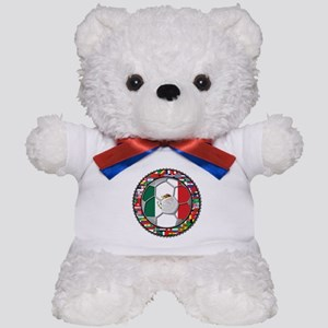 Mexico Flag World Cup No Labe Teddy Bear