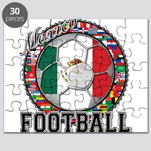 Mexico Flag World Cup Footbal Puzzle