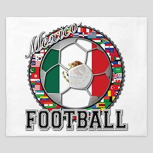 Mexico Flag World Cup Footbal King Duvet