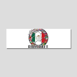 Mexico Flag World Cup Footbal Car Magnet 10 x 3