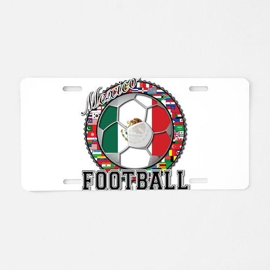 Mexico Flag World Cup Footbal Aluminum License Pla