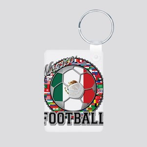 Mexico Flag World Cup Footbal Aluminum Photo Keych