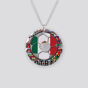 Mexico Flag World Cup Footbal Necklace Circle Char