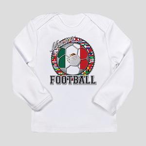 Mexico Flag World Cup Footbal Long Sleeve Infant T