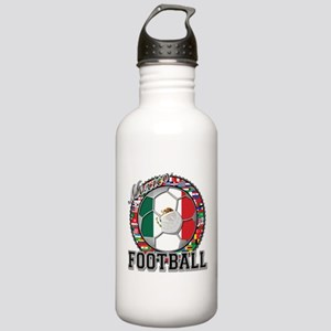 Mexico Flag World Cup Footbal Stainless Water Bott
