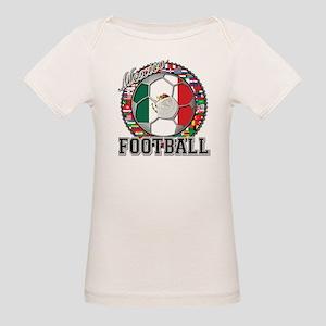 Mexico Flag World Cup Footbal Organic Baby T-Shirt