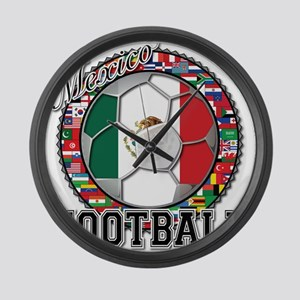 Mexico Flag World Cup Footbal Large Wall Clock