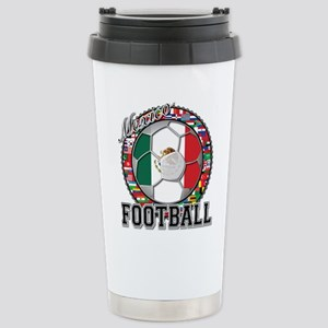 Mexico Flag World Cup Footbal Stainless Steel Trav