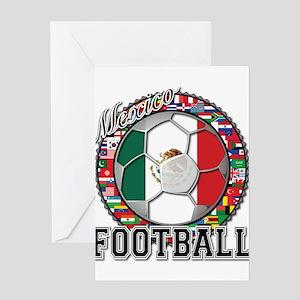 Mexico Flag World Cup Footbal Greeting Card