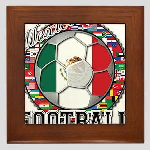 Mexico Flag World Cup Footbal Framed Tile