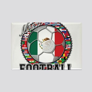 Mexico Flag World Cup Footbal Rectangle Magnet