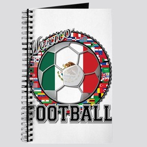 Mexico Flag World Cup Footbal Journal